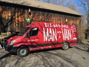 Van in the country